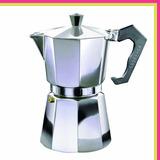 Cafetera Express Volturno Classica Aluminio 3 Pocillos 195cc