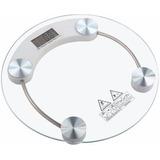 Balança Digital Redonda Banheiro Academia Vidro Temperado