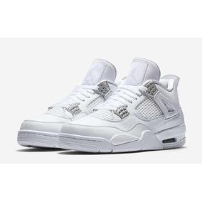 Zapatillas Jordan Retro 4 Blancas Puré Money 12