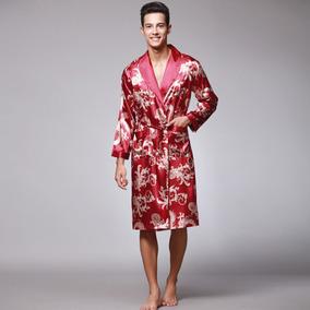 Homens  s Elegante Roupão De Banho Roupa De Dormir Robe por Deal Extreme 47adc3c3101
