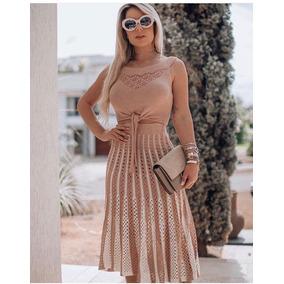 Conjunto Tricô Tricot Feminino Lindo Moda Blogueira Verão