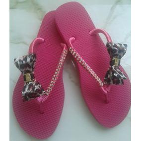 Sandalias Femininas Tipo Havaiana Chinelo Customizado.