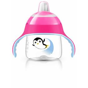 Copo Philips Avent Pinguim 200ml Rosa