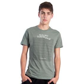 Playera Para Hombre Hang Ten Verde Militar Estampada e73f9a49843d1