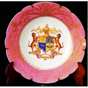 Antigo Prato Sevres. Porcelana Monogramada. Assinado. França