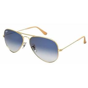 3ec35a5c286a4 Oculos Rayban Aviador Azul 58 14 De Sol Ray Ban - Óculos no Mercado ...