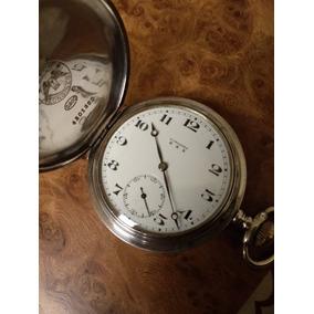 Reloj De Bolsillo Longines 3 Tapas De Plata