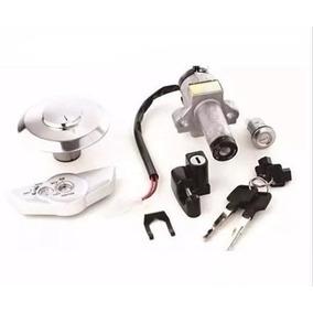 Kit Chave Ignição Trava Cg 150 Titan 150 04 / 08 Xmb 5 Peças