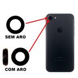 Lente De Vidro P/ Camera Traseira Iphone 7 Vidrinho Original