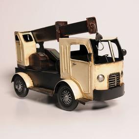 Caminhão Guindaste Miniatura De Metal