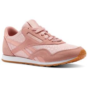50630c6a4 Tenis Reebok Cl Nylon Slim Txt L Pinkwhite Mujer Originales