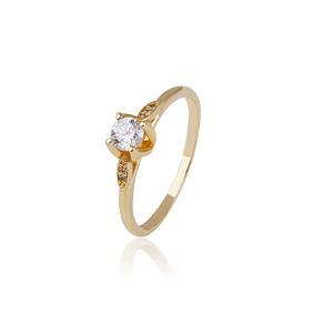 Anillo De Compromiso De Oro Con Zirconia Calidad Diamante