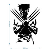 Adesivo Wolverine 10cmx15cm Adamantium Xmen Nerd Geek Marvel
