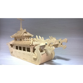 Miniatura De Barco Real Tailandês Do Dragão Autentica