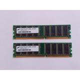 Par De Memorias Ram De 256 Mb Ddr Y Una Memoria Ram 512 Mb