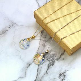 Colar De Ostra Conchita Swarovski Chapa De Oro De 22k