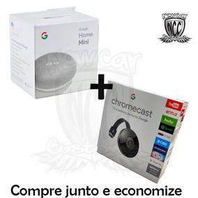 Caixa De Som Speaker Google Home Mini Wi-fi + Chromecast 2