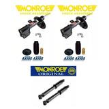 04 Amortecedores + Kit Monroe Axio - Citroen C4 Gran Picasso