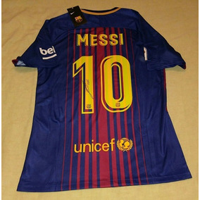 Jersey Barcelona Firmada Lionel Messi Certificada Argentina 3fa5fb001ef