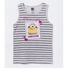 a3a108fa8636d Camiseta Regata Minions Infantil Menina Outlet 10 Anos