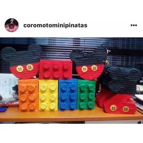 Mini Piñatas Lego Peppa Jefe En Pañales Navidad Osos Mickey