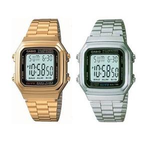 5c5016f972e Relógio Casio A178w Retrô Vintage Dourado Unisex Original - Relógios ...