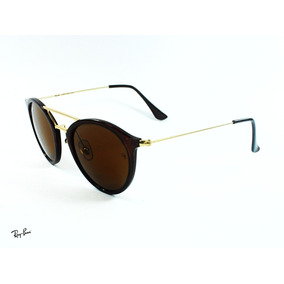 8cdeb03820 Rayban® Round Brown 51-21-140 Gold Steel Italy Sol0327 Gafas