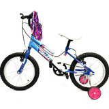 Bicicleta Infantil Peregrina Niña Rodada 16 Ruedas Laterales