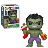 Funko Pop 398 Marvel Holiday- Hulk W/stocking & Plush