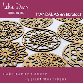Mandalas Chakras Caladas Fibro Fácil De 7cm - Gran Variedad