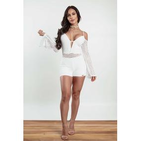 Macacão para Feminino Branco em Santos no Mercado Livre Brasil 7860eeb4cacb6