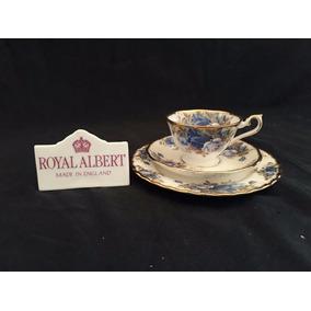 Royal Albert Trio Xícara De Café Avon Moonlight Rose