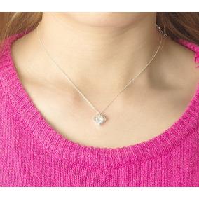 Fino Collar Dije Forma Diamante Dama Mujer Acero Inoxidable