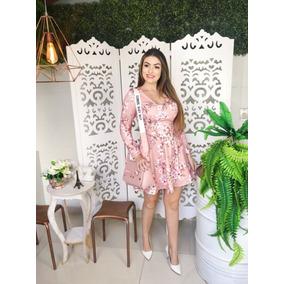 6e157d757 Vestido Estilo Princesa Curto - Vestidos Curtos Femininas Rosa claro ...