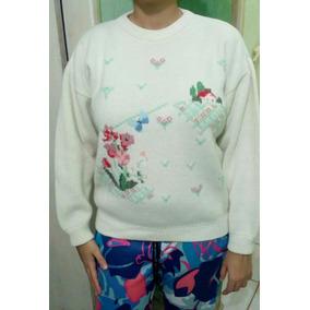 Casaco Suéter Feminino De Lã