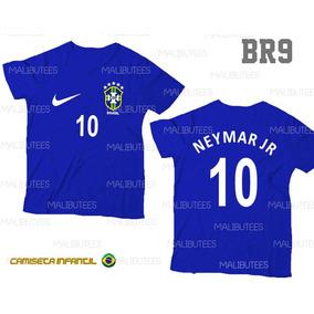2095db0e88 Camiseta Infantil Seleção Brasil Neymar Personalizada Br9