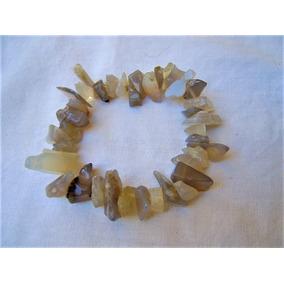 Pulsera Piedra Agata Botswana Pedacería Gigante Chip 18 Cm