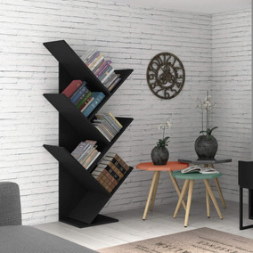 Estante Para Livros Diagonal Spine Siena Móveis Preto Ggwt