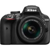 Nikon Nikon D3400 (negro) Con Lentes Af-p 18-55mm Vr Y 55-20