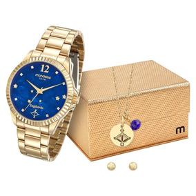 Relógio Feminino Mondaine 99129lpmkde3k1 Dourado Sagitário