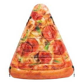 Colchoneta Inflable Intex - Forma De Pizza - 145x175 Cm