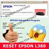 Reset Almohadillas Impresora Epson L380 Solución Inmediata.