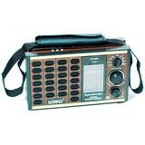 Rádio Lelong Fm Am Sw Retrô Alça Removível Pilha Bateria
