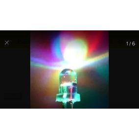 Kid 10 Led Pisca 7 Cores 5mm Com Resistor..led Auto Brilho .