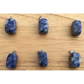 Sodalita Piedra Natural Rectangular Dije Tamaño 10mmx15mm