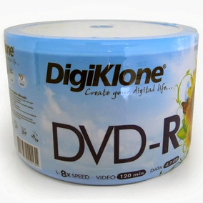 Dvd-r Virgem Digiklone 4.7gb 8x 120min Pack 50 Unidades
