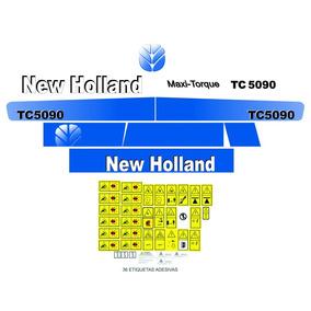 Kit Adesivos Colheitadeira Tc 5090 New Holland