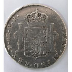 Moeda México 8 Reales 1789 Carolus Iv