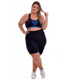 10bermuda Legging Fitness Ciclista Plus Size Short Feminino