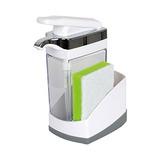 Casabella Sink Sider - Jabonera Con Esponja Para Fregadero,